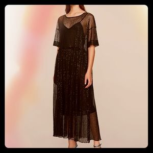 NWT Zara Oversized Sequined Mesh Dress
